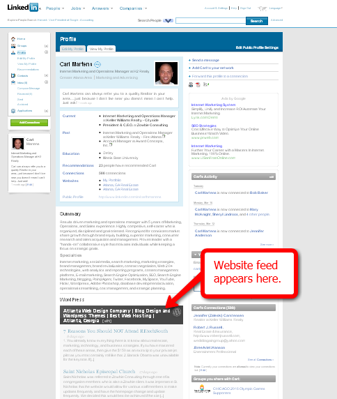 linkedin-profile-with-wordpress-application