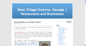 EverythingWestVillage.com in basic WordPress blogging format